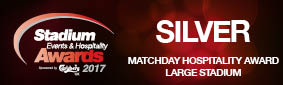 Matchday Hospitality Award Large Stadium Silver MCFC 2017